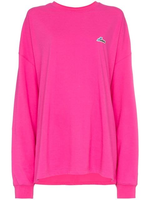 We11done Well Done Patch Oversized Cotton Jersey Sweatshirt - Farfetch