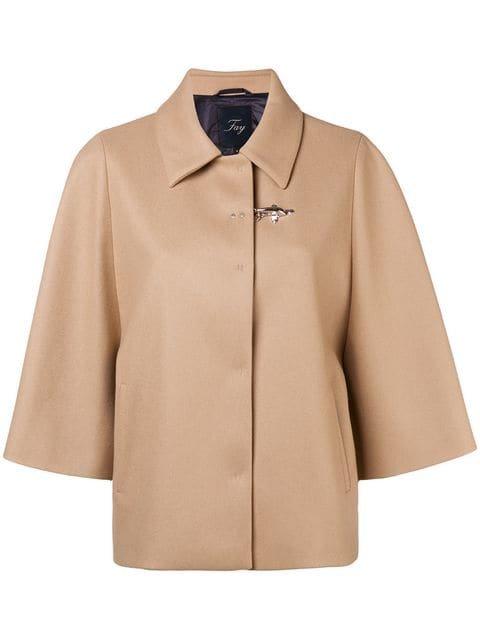 Fay Pin Fasten Cropped Sleeve Jacket - Farfetch