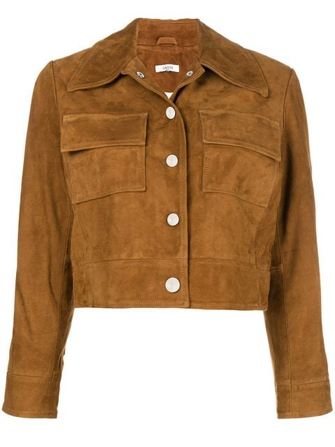 Ganni Cropped Fitted Jacket - Farfetch