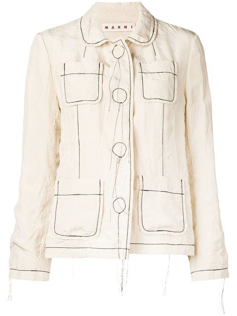 Marni Contrast Stitch Jacket - Farfetch