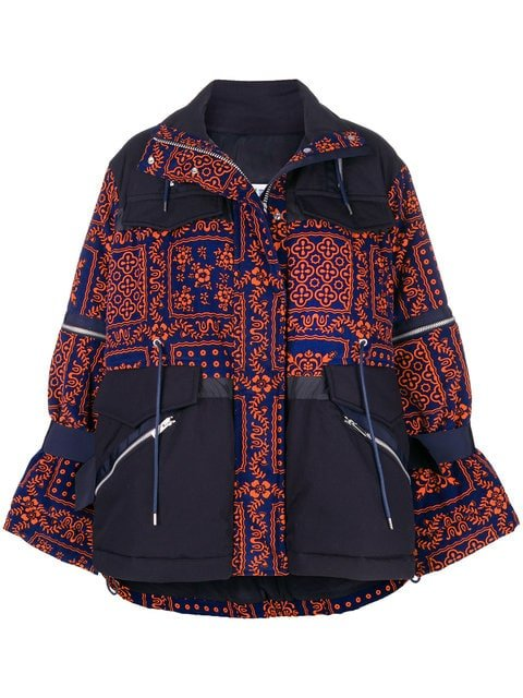 Sacai Printed Zipped Jacket - Farfetch