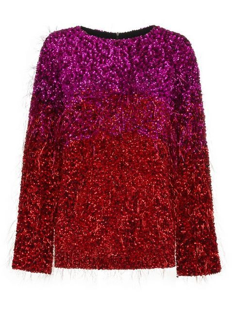 Ashish Silk Tinsel Long Sleeve Top  - Farfetch