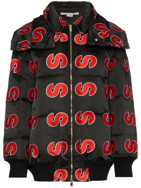 Stella McCartney S Embroidered Hooded Puffer Jacket - Farfetch