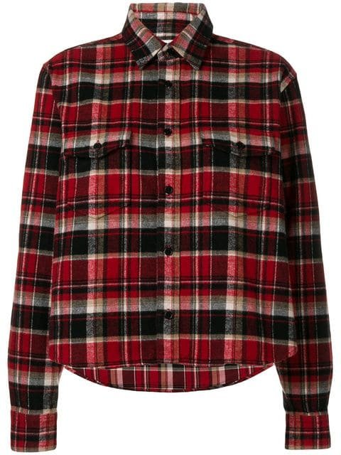 Saint Laurent Checked Classic Shirt - Farfetch