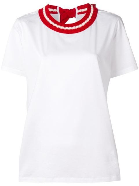 Moncler Knit Collar T-shirt - Farfetch