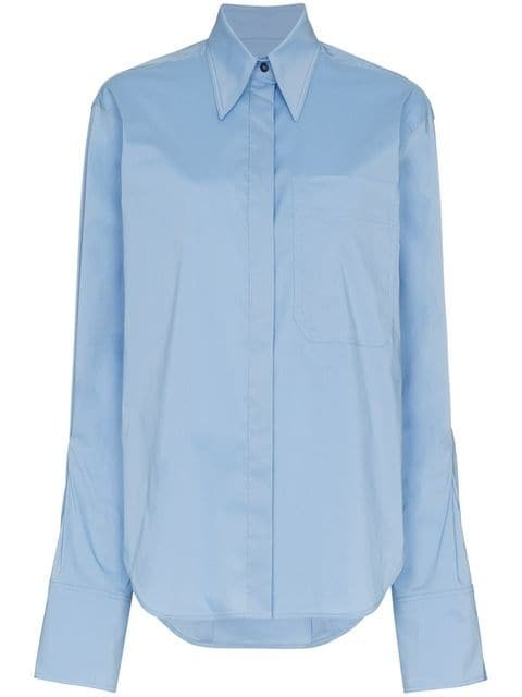 Rejina Pyo Mira Oversized Collared Shirt - Farfetch