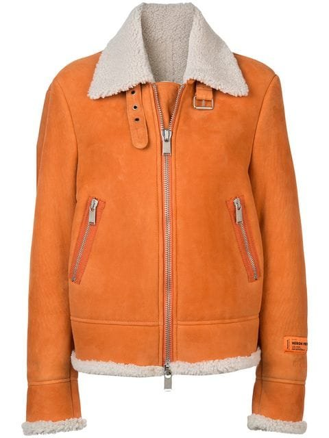 Heron Preston Shearling Collar Jacket - Farfetch