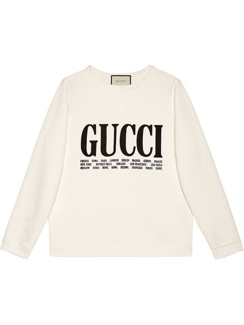 Gucci Gucci Cities Print Sweatshirt - Farfetch