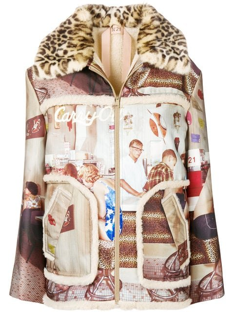 Nº21 Printed Jacket - Farfetch