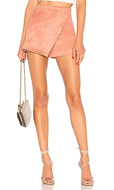 Addy Faux Suede Skort                                             About Us