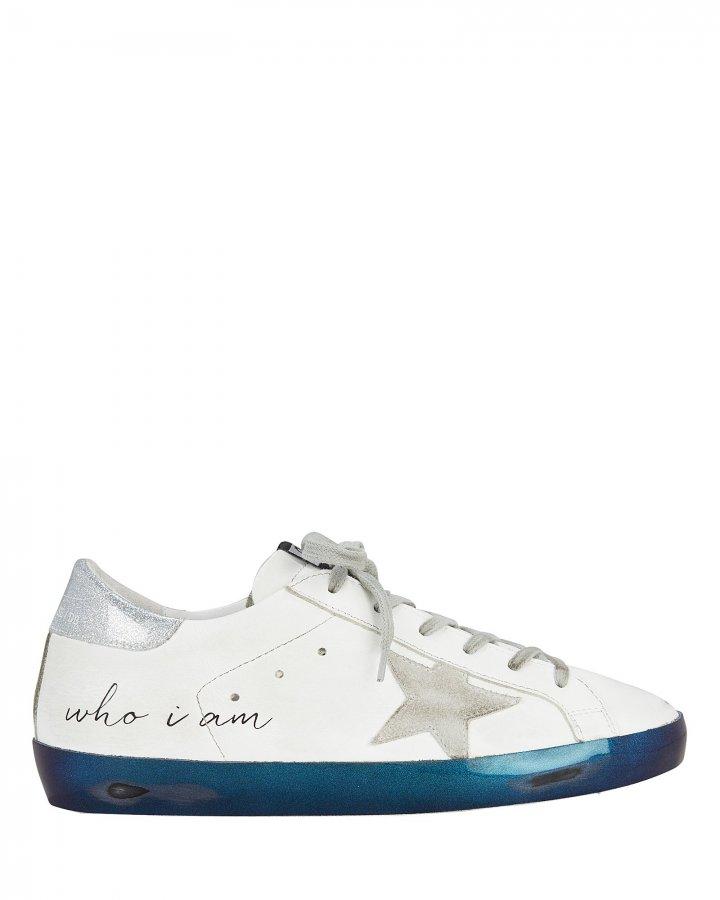 Superstar Navy Bottom Low-Top Sneakers