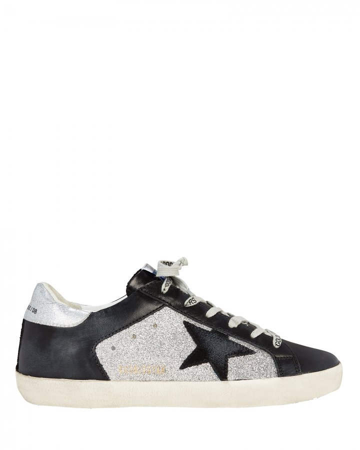 Superstar Black Leather Low-Top Sneakers