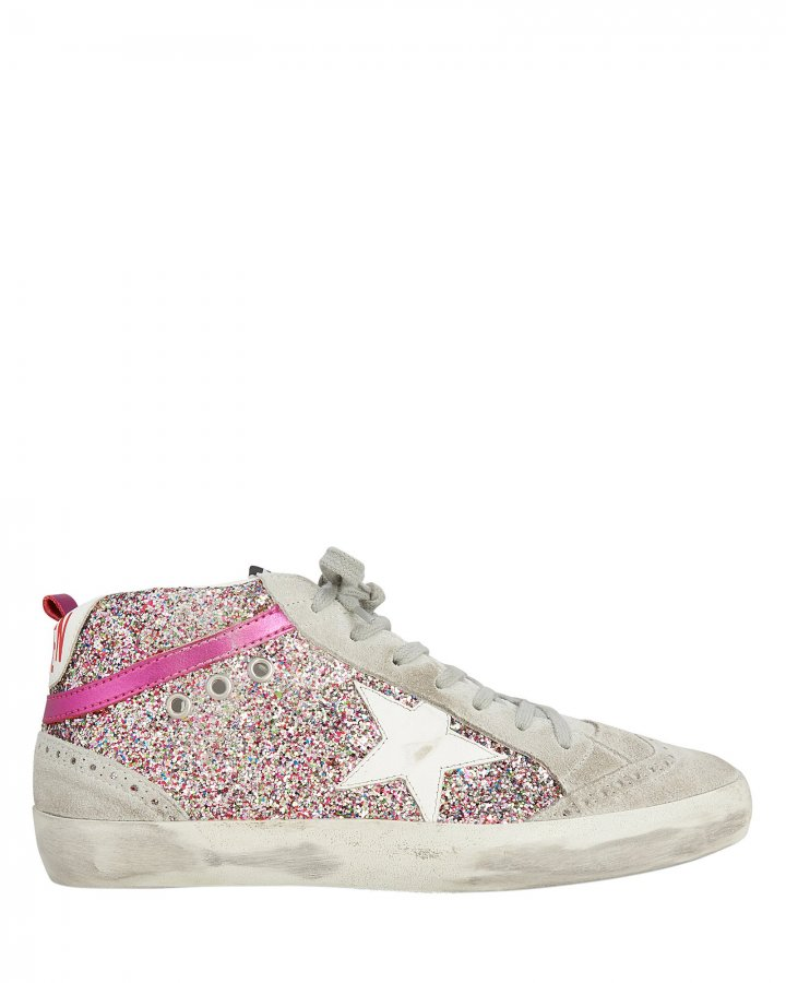 Mid Star Rainbow Glitter Sneakers