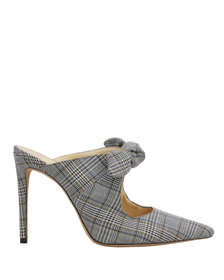 Evelyn Plaid Mules