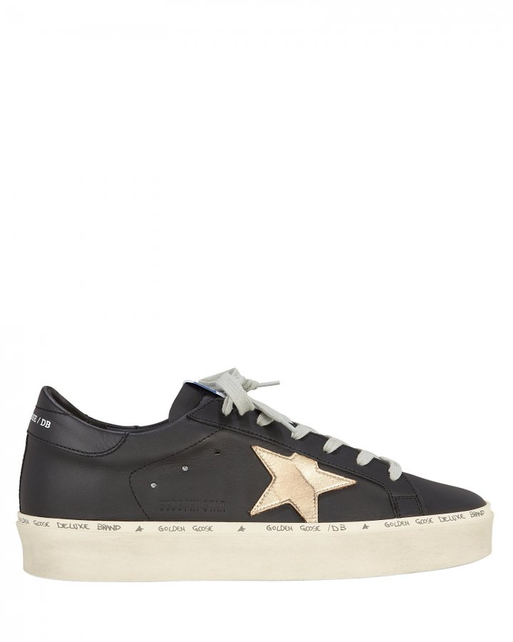 Hi Gold Star Black Low-Top Sneakers