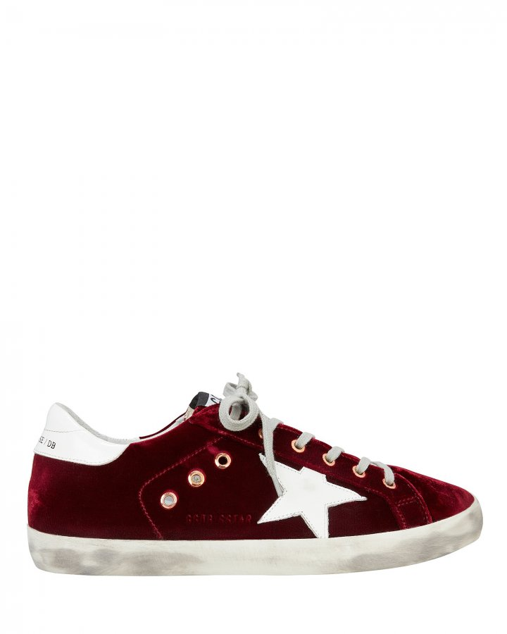 Superstar Red Velvet Low-Top Sneakers
