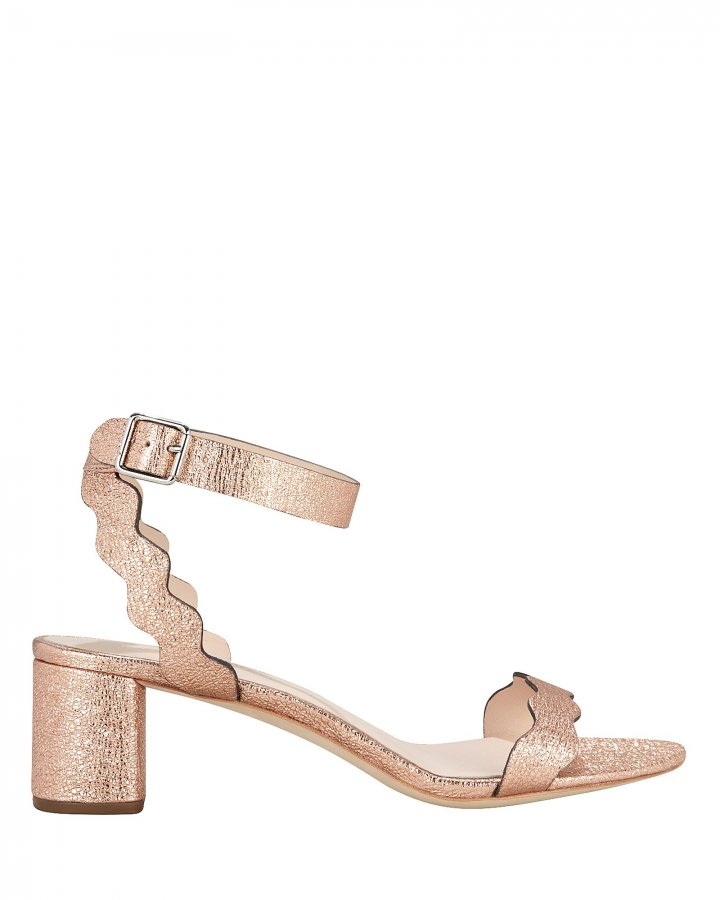 Emi Rose Gold Leather Sandals