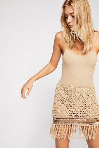 Layla Crochet Mini Skirt