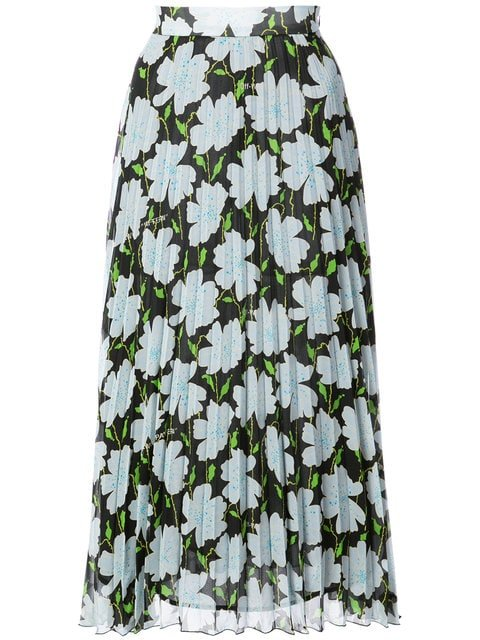 Off-White Floral Print Skirt - Farfetch