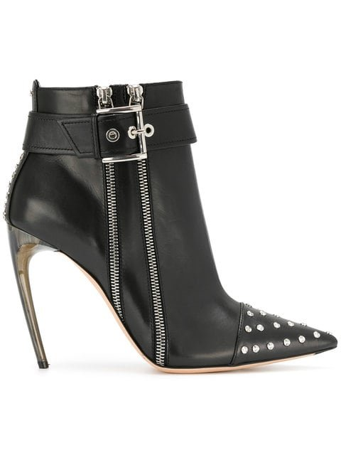 Alexander McQueen Studded Ankle Boots - Farfetch