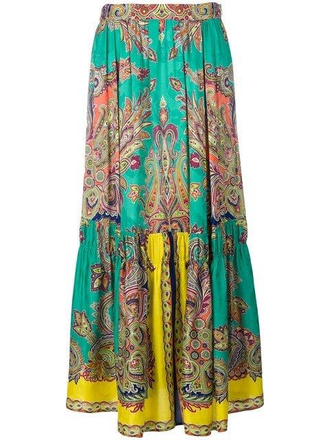 Etro Paisley Print Skirt - Farfetch