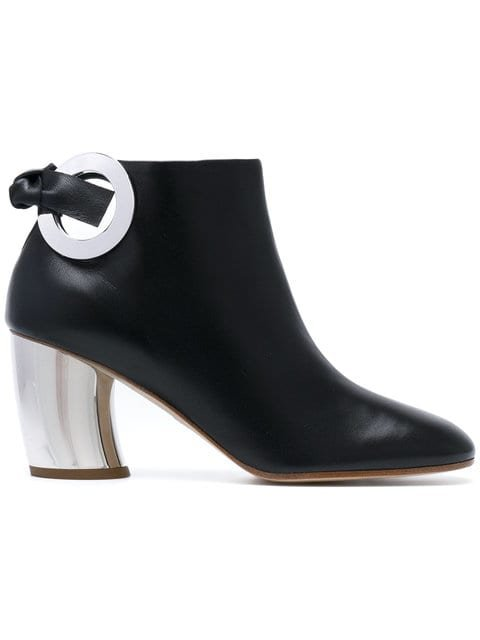 Proenza Schouler Metallic Contrast Boots - Farfetch