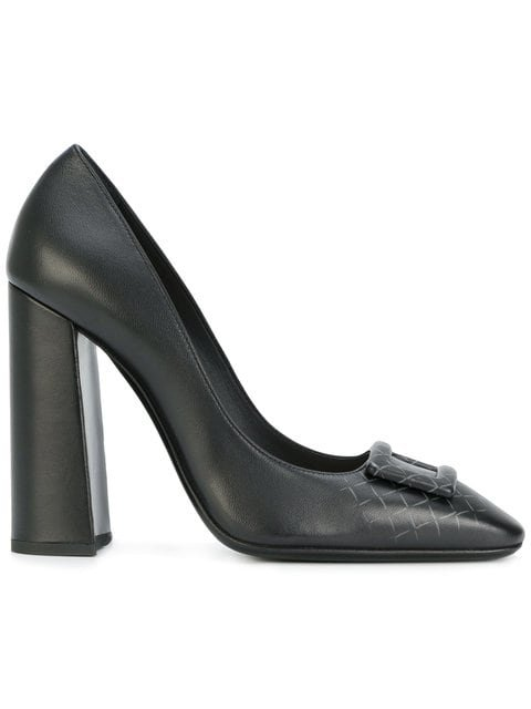 Bottega Veneta Nero Nappa Cherbourg Pump - Farfetch