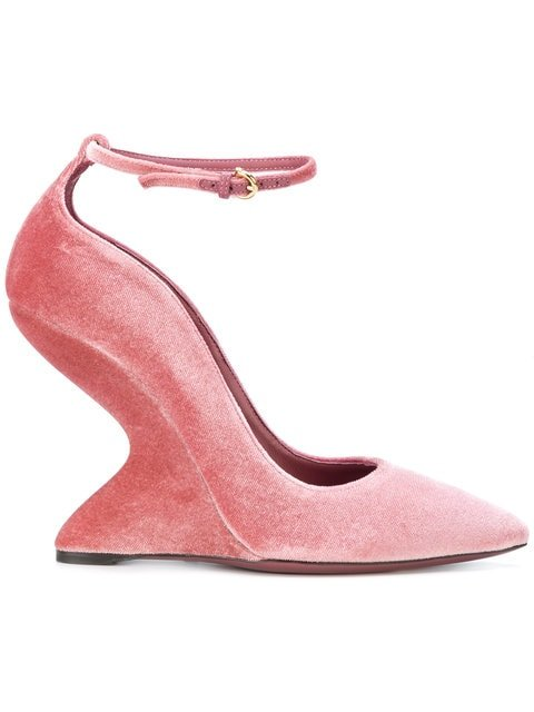 Salvatore Ferragamo Sculpted-heel Pumps - Farfetch