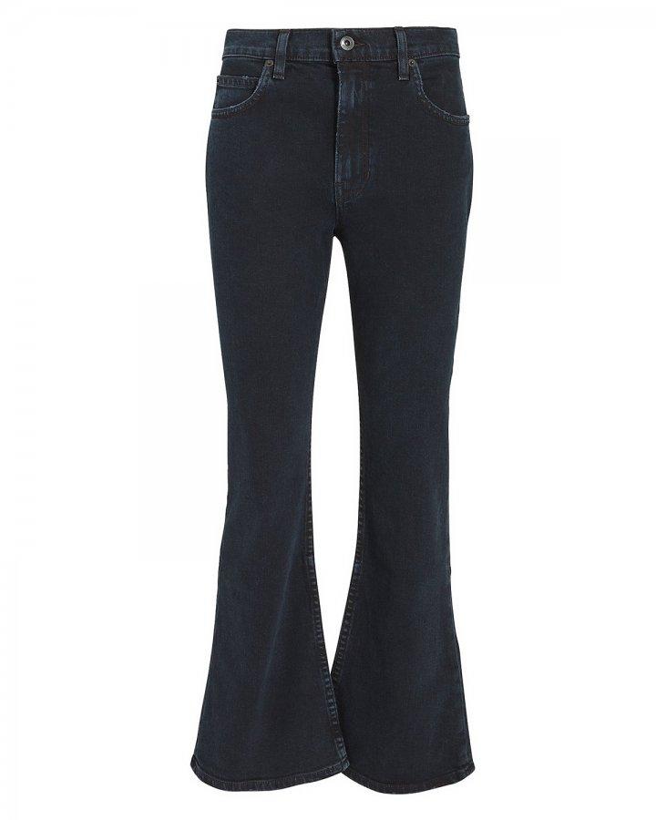 Dark Wash Cropped Flare Jeans