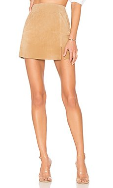 Suede Mini Skirt                                             BLANKNYC