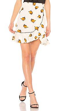 Roseburg Crepe Skirt                                             Ganni