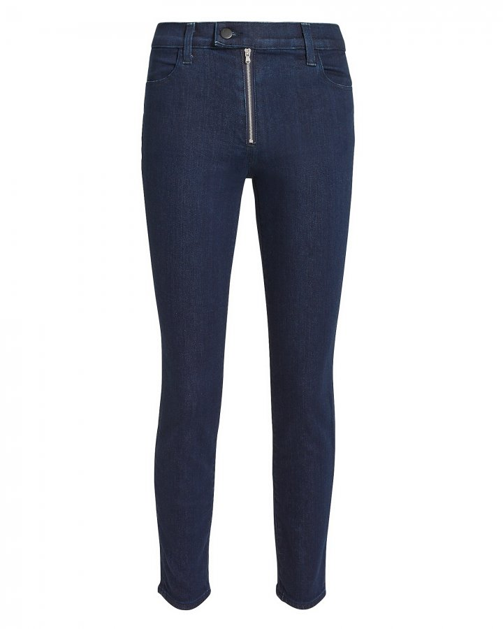 Alana Exposed Zip Skinny Jeans