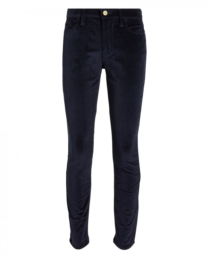 High-Rise Corduroy Skinny Pants