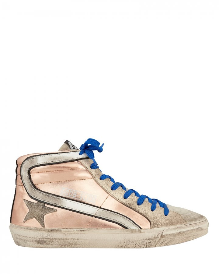 Slide Rose Gold High-Top Sneakers