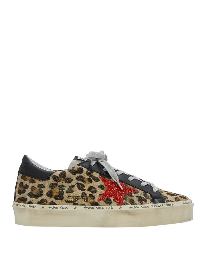 Hi Star Leopard Haircalf Low-Top Sneakers
