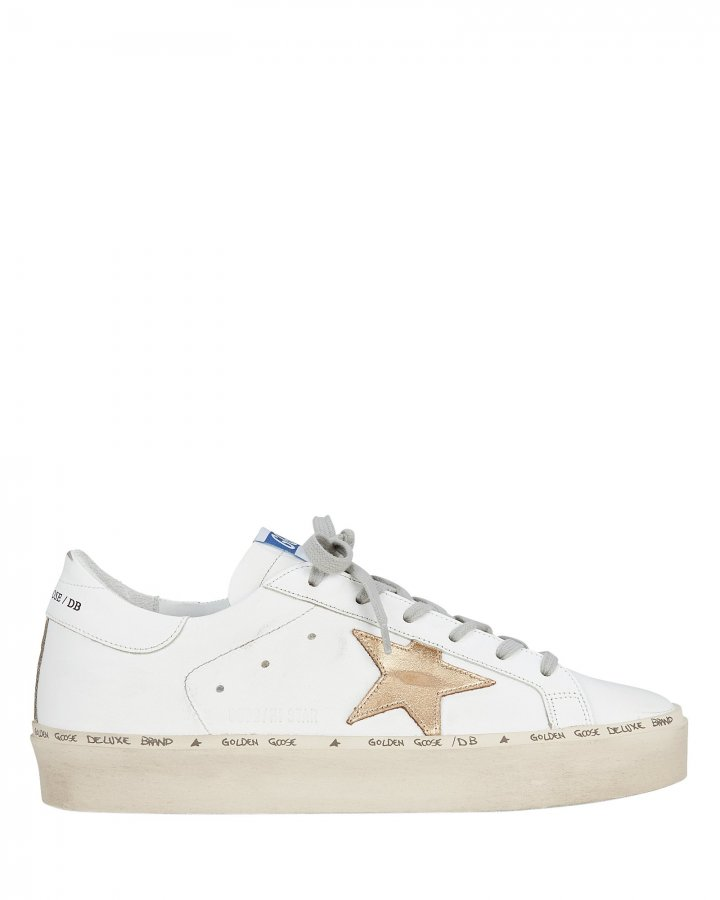 Hi Star Gold Leather Low-Top Sneakers