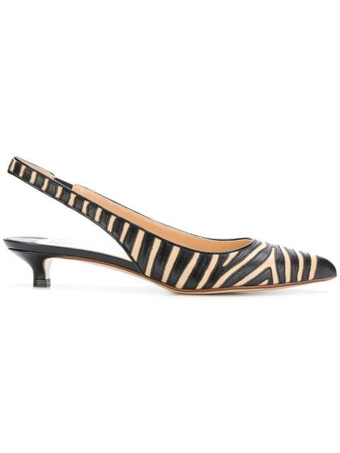 Francesco Russo Animal Print Slingback Pumps - Farfetch
