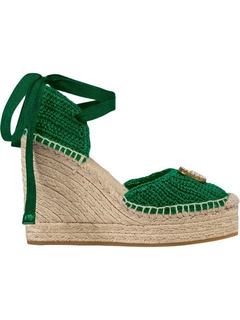 Gucci Crochet Platform Espadrille - Farfetch