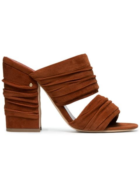 Laurence Dacade Brown Rona 100 Suede Mules - Farfetch