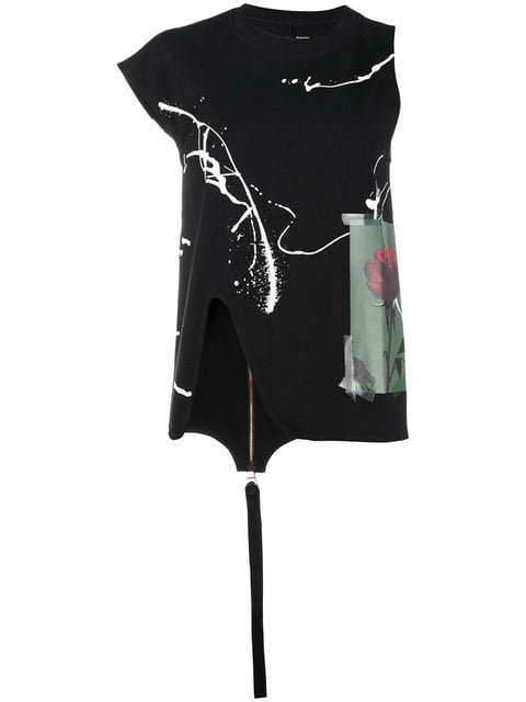 Proenza Schouler Printed Top With Asymmetrical Sleeves - Farfetch