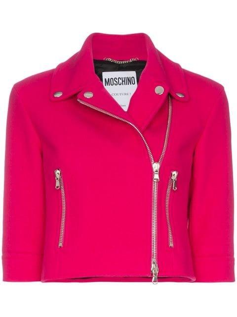 Moschino Wool-blend Zipped Biker Jacket  - Farfetch