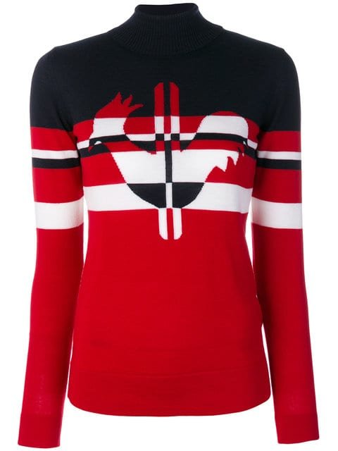 Rossignol Rooster Stripes Roll Neck Jumper - Farfetch