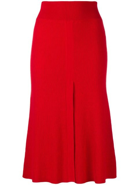 Cashmere In Love Cashmere Front Slit Skirt - Farfetch