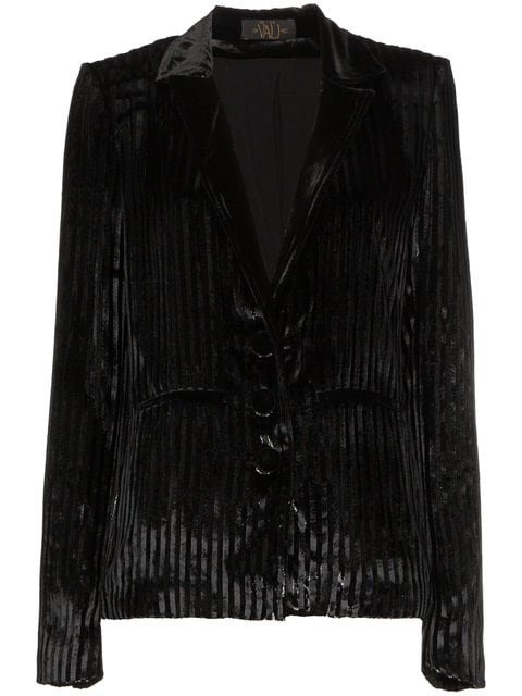 De La Vali Velvet Jacket With Lurex Stripes - Farfetch