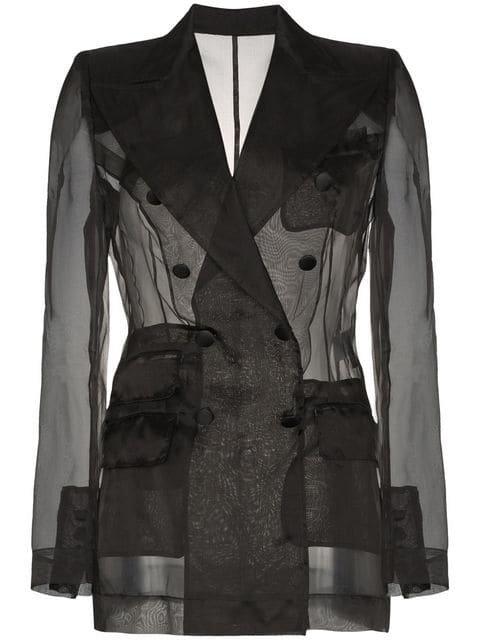 Dolce & Gabbana Sheer Organza Double Breasted Jacket - Farfetch