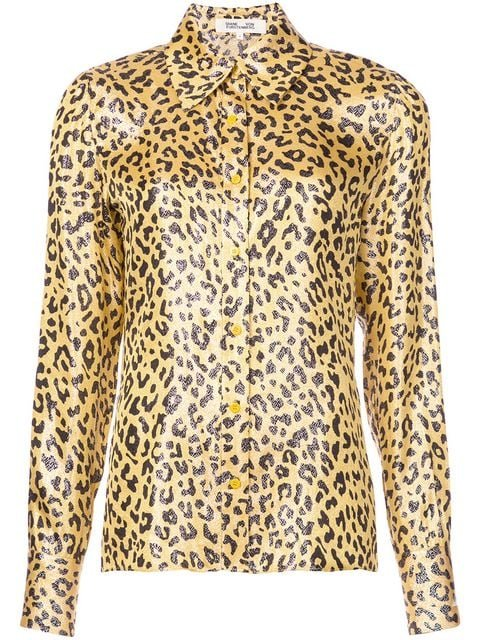Dvf Diane Von Furstenberg Leopard Print Shirt - Farfetch