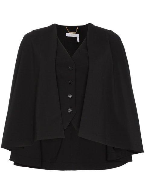 Chloé Virgin Wool Blend Waistcoat Cape - Farfetch
