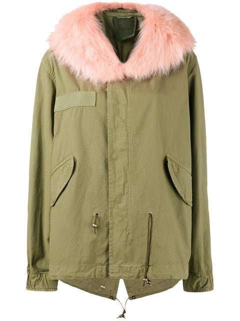 Mr & Mrs Italy Pink Racoon Fur Hood Unlined Parka Jacket - Farfetch
