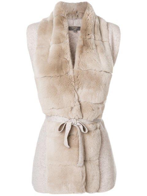 N.Peal Fur Placket Cashmere Gilet - Farfetch