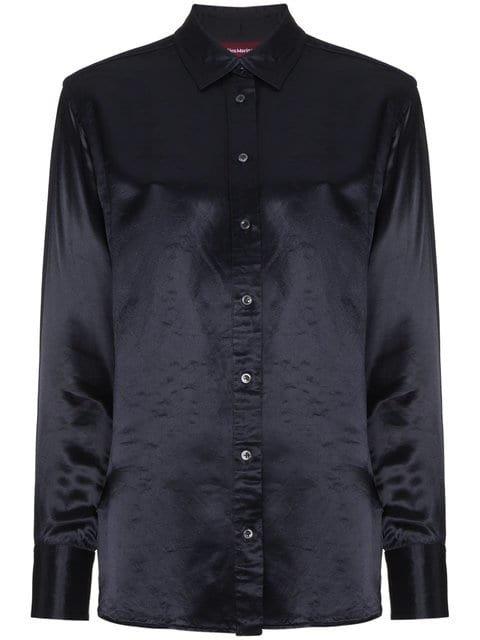 Sies Marjan Sander Washed Satin Shirt With Pocket - Farfetch